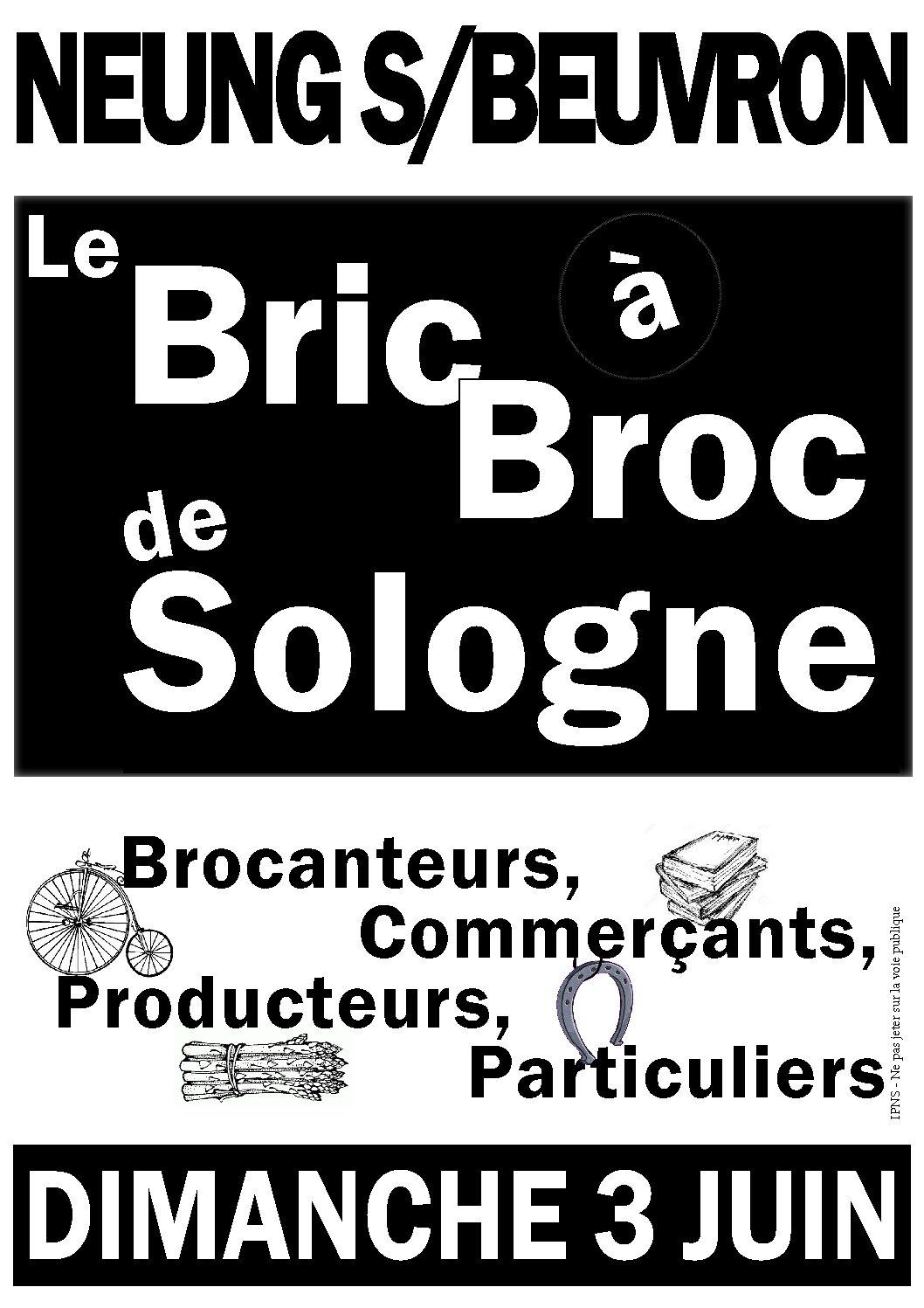 Bric à Broc de Sologne le dimanche 3 juin 2018
